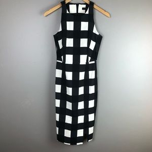 Banana Republic black and white check dress 0